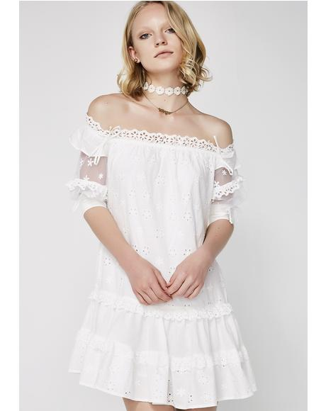 Hermosa Eyelet Swing Dress