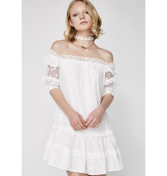 For Love & Lemons Hermosa Eyelet Swing Dress