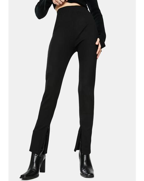 Bottom Slit Comfy Pants