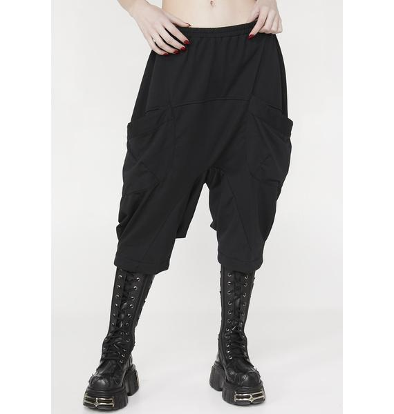MNML Self Destruct Drop-Crotch Sweatpants