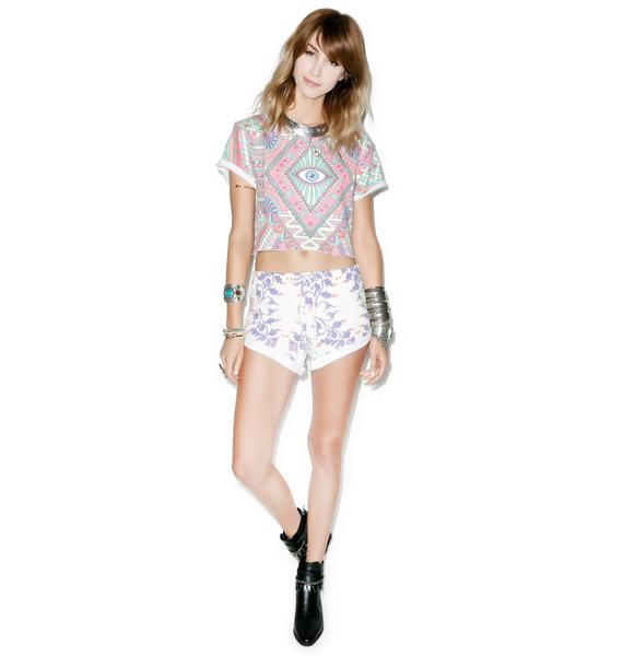 Wildfox Couture Third Eye Venice Crop Top