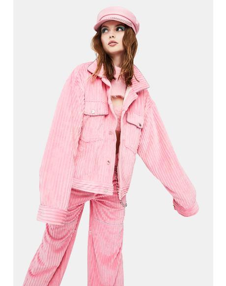 Pink Corduroy Jacket V.3