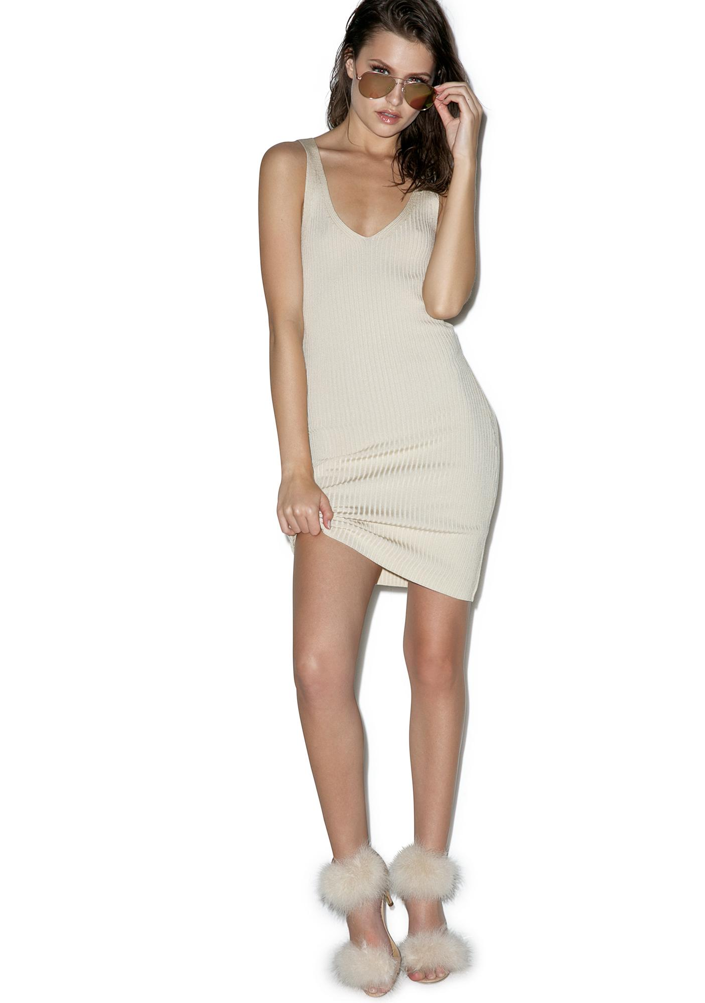 Café Au Lace Up Dress