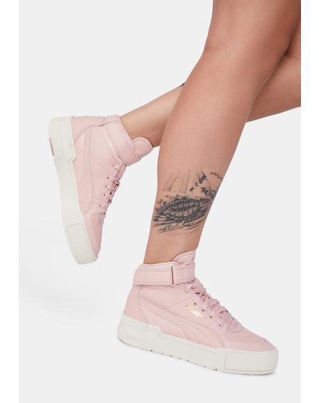 Pink Cali Sport Hi Top Sneakers