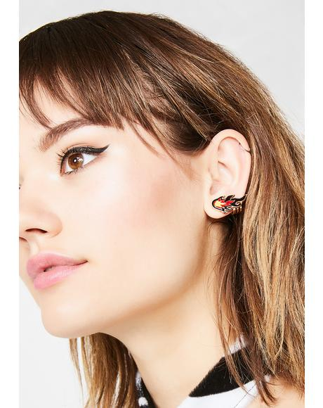 Lit Life Flame Earrings