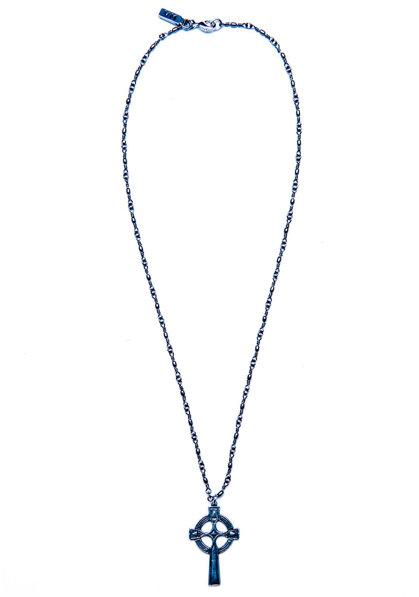 Vanessa Mooney Olesia Cross Necklace