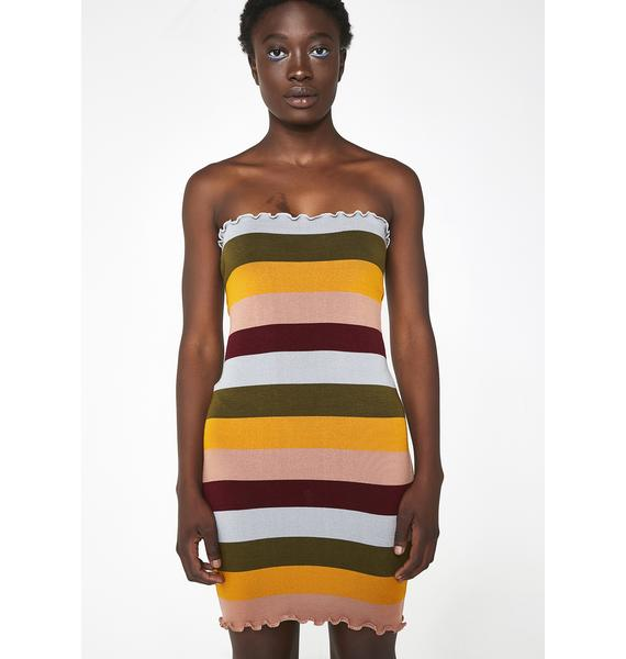 Color Coded Knit Dress