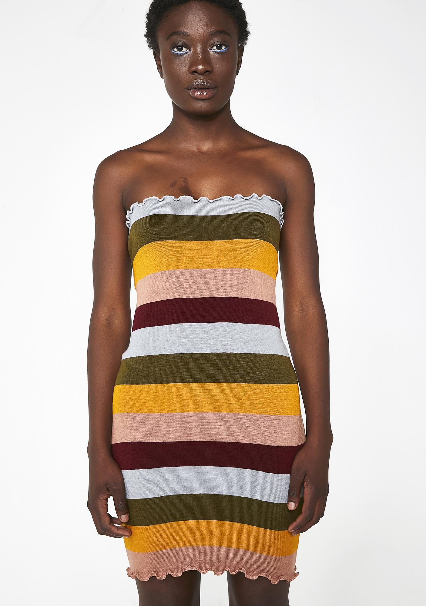 97d6c42dc0 Color Coded Knit Dress by Debut
