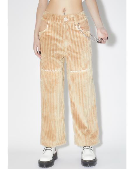 Brown Jumbo Corduroy Pants V.2