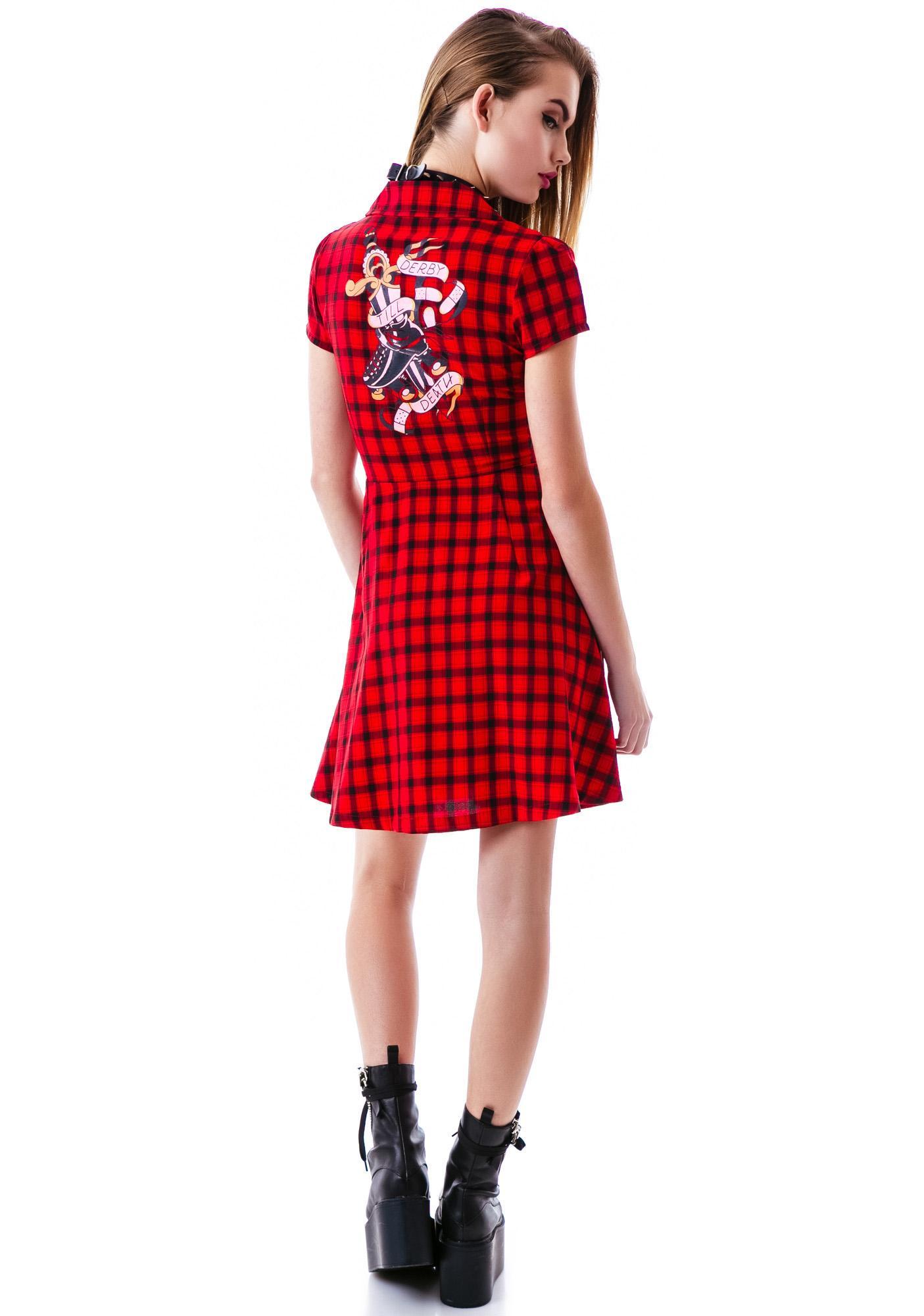 Sourpuss Clothing Derby Til Death Dress