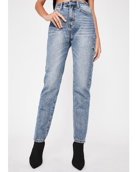 Scratched Slim Fit Jeans