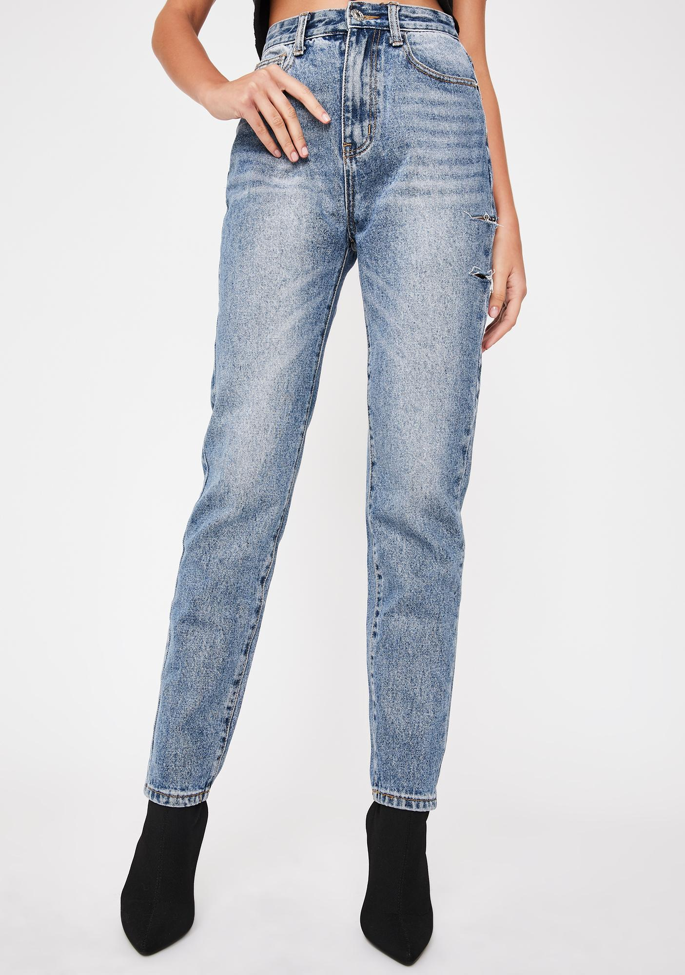 Momokrom Scratched Slim Fit Jeans