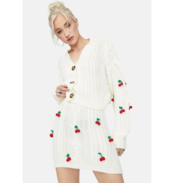 Pure Cherry Sweet Tales Button Down Cardigan