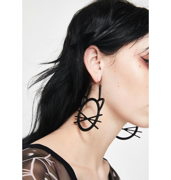 Fatal Kitty Drop Earrings