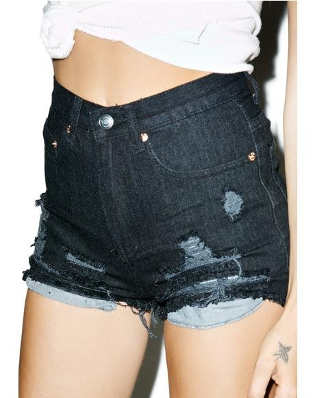 Vice Distressed Shorts