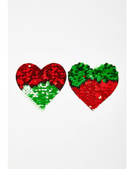 Holiday Hearts Sequin Pasties