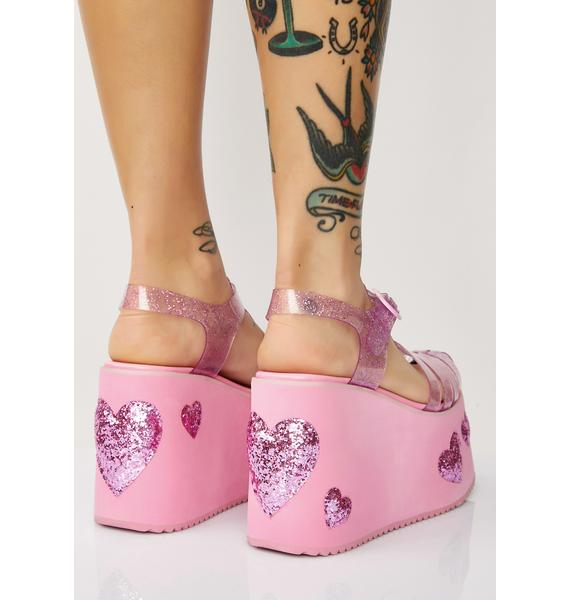 Sugar Thrillz Million Dollar Baby Jelly Platforms