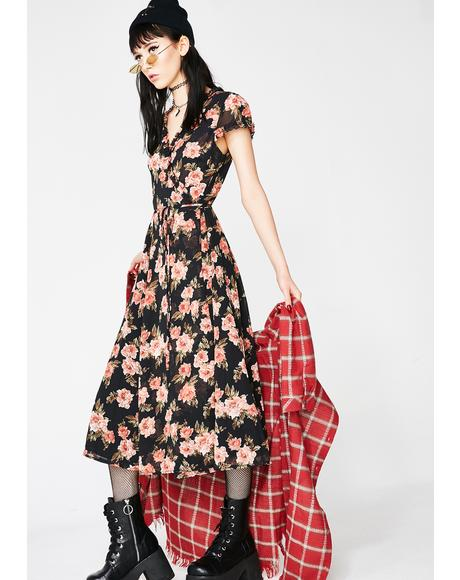 Budding Affair Floral Dress