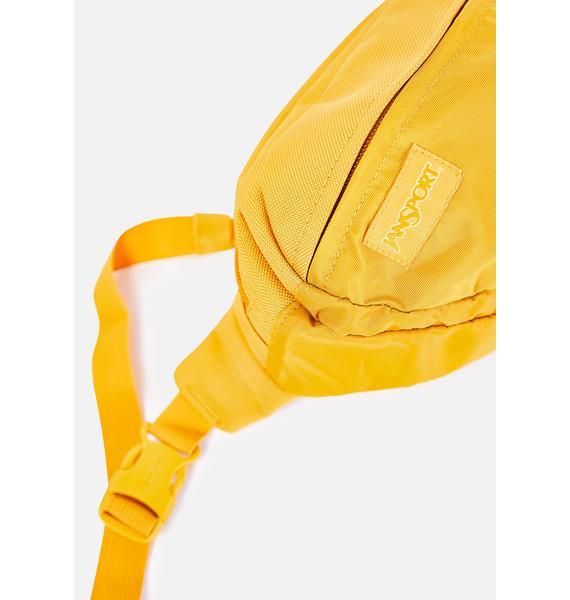 JanSport English Mustard Mono Fifth Avenue Fanny Pack