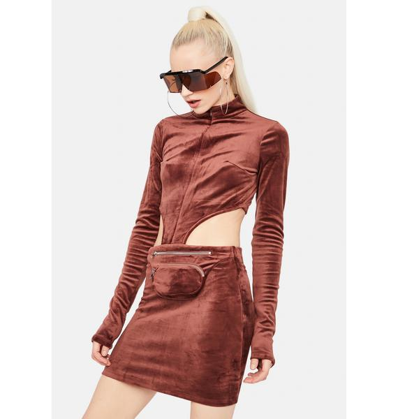 Ready For Action Velour Fanny Pack Dress