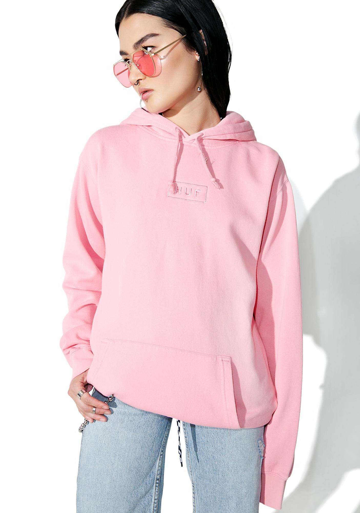HUF Bar Logo Overdyed Pullover Hoodie