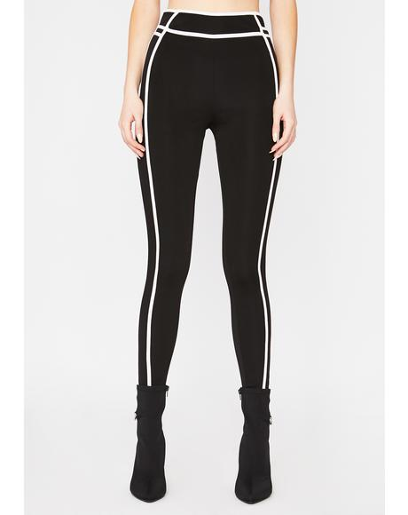 In The Mood Contrast Stitch Leggings