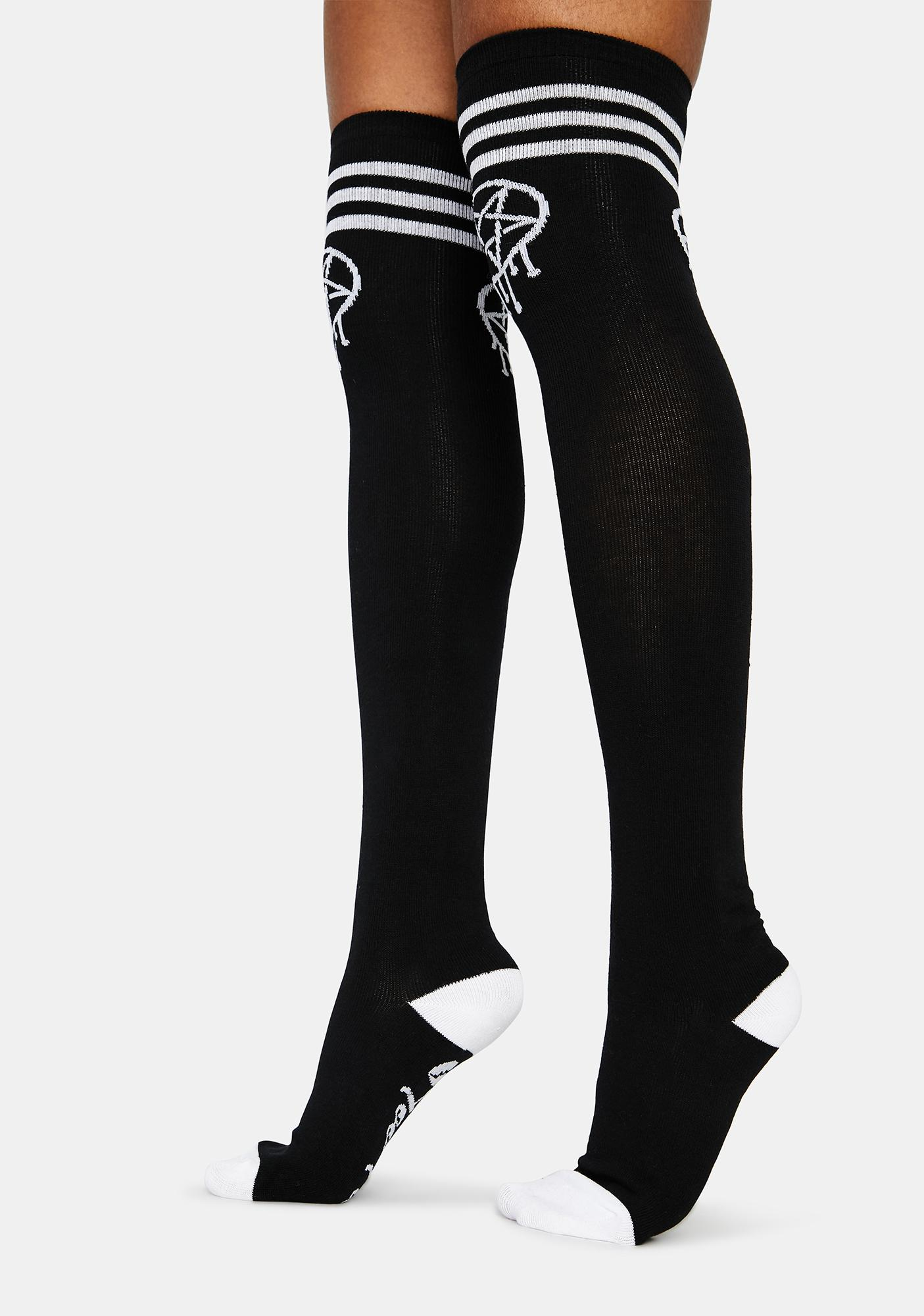 Too Fast Sporty Gram Thigh Highs