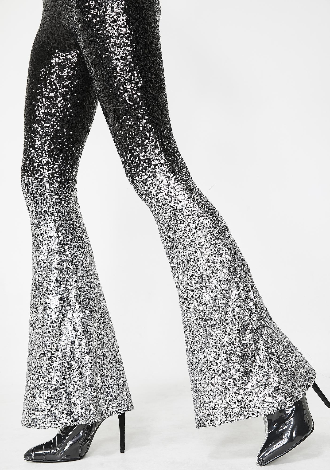 Fade To Black Sequin Flares