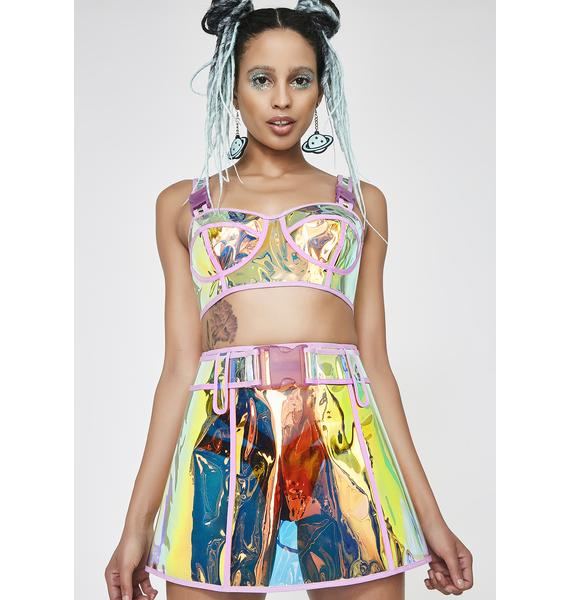 Club Exx See Thru Ya BS Clear Skirt