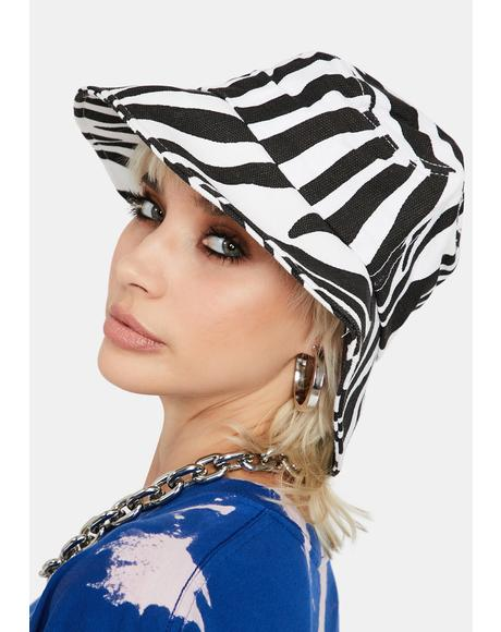 Go Wild Zebra Bucket Hat