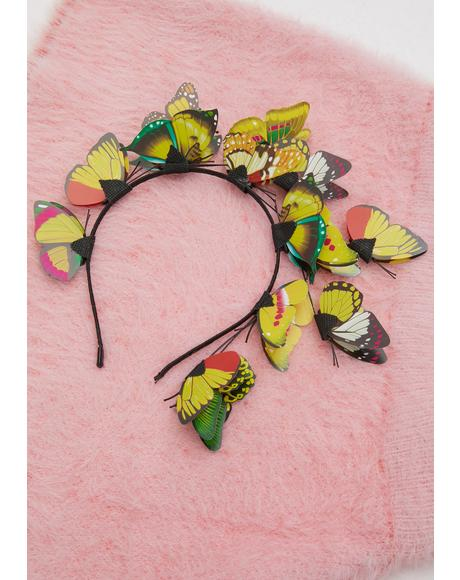 Princess Of The Forest Butterfly Headband