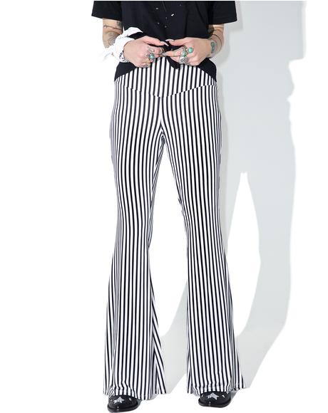 Wild Thing Striped Bell Bottoms