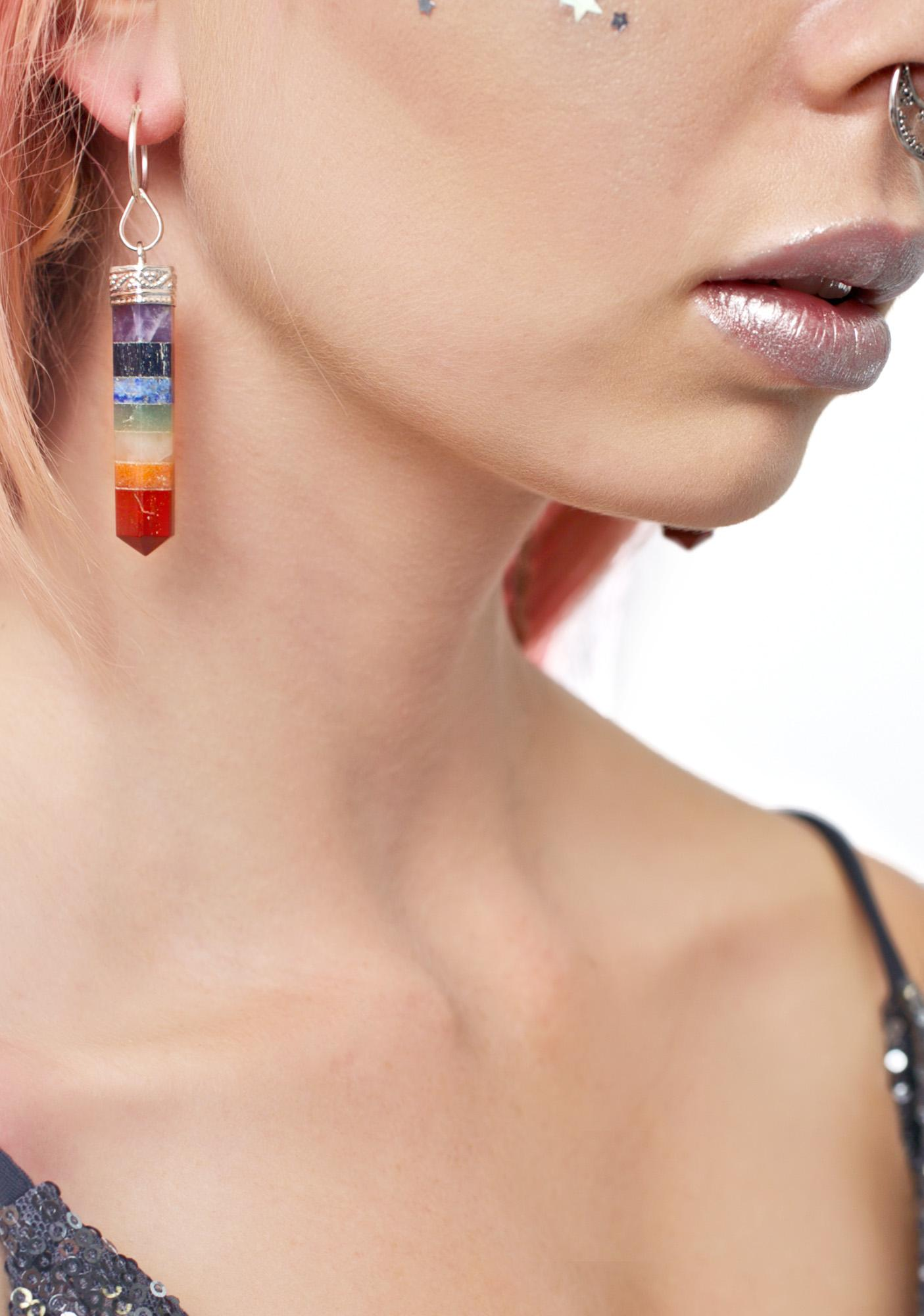 Rock n Rose Nova Seven Chakra Gemstone Earrings