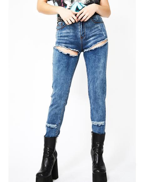 Corrupted Love Slashed Skinny Jeans