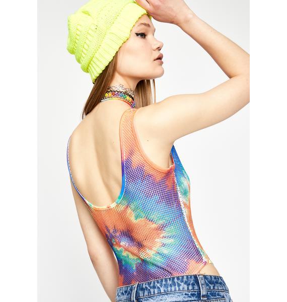 Spiral Prism Tie Dye Bodysuit