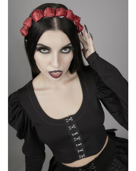Bury My Heart Flower Headband