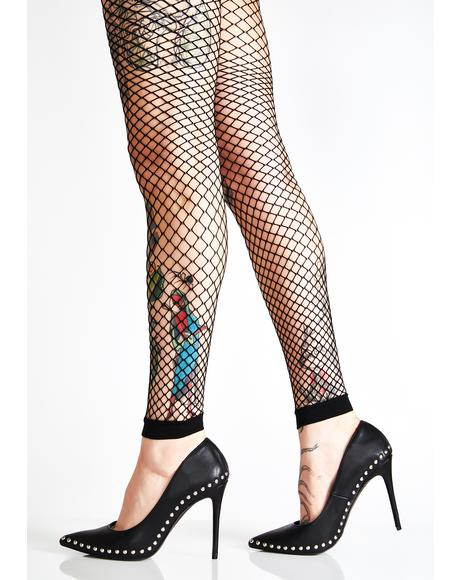 In Ya Web Fishnet Leggings