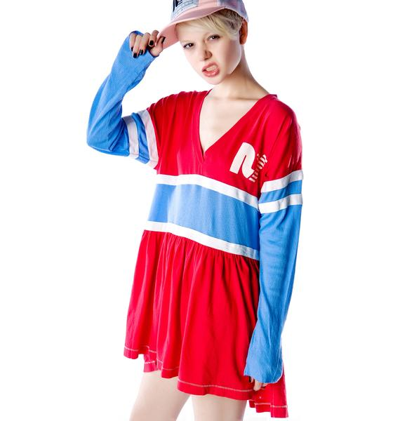 Rebel Yell RY Sidelines Babydoll Dress