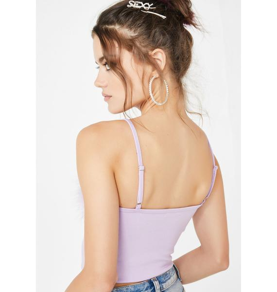 Sugar Thrillz Lilac Dream Fantasy Marabou Tank