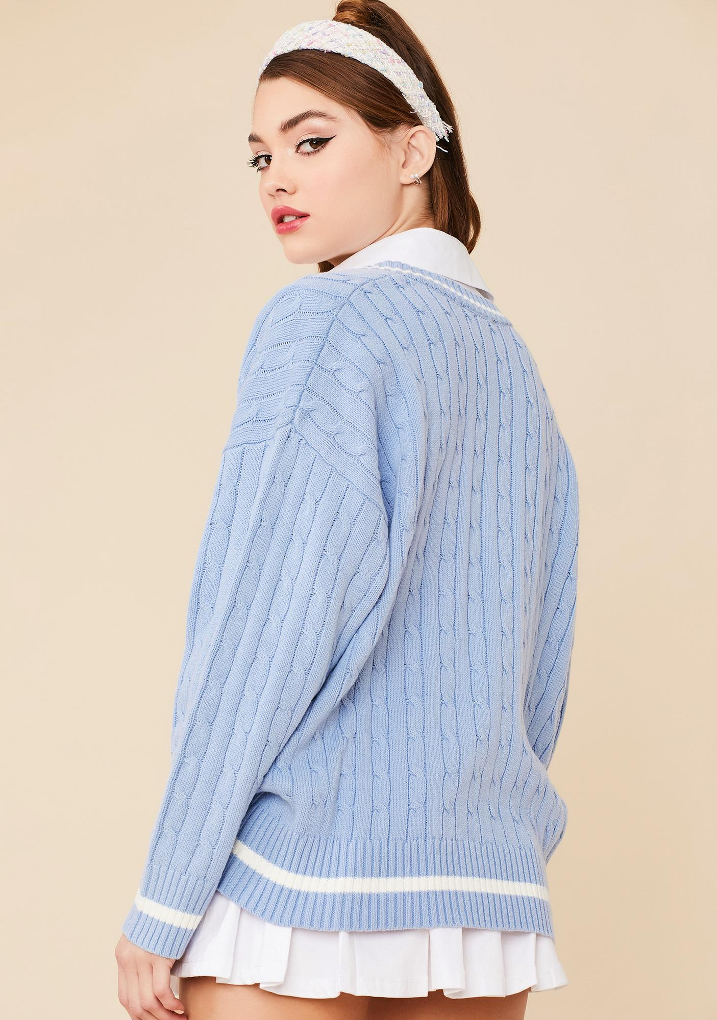 Sky Catch Me On Campus Knit Sweater