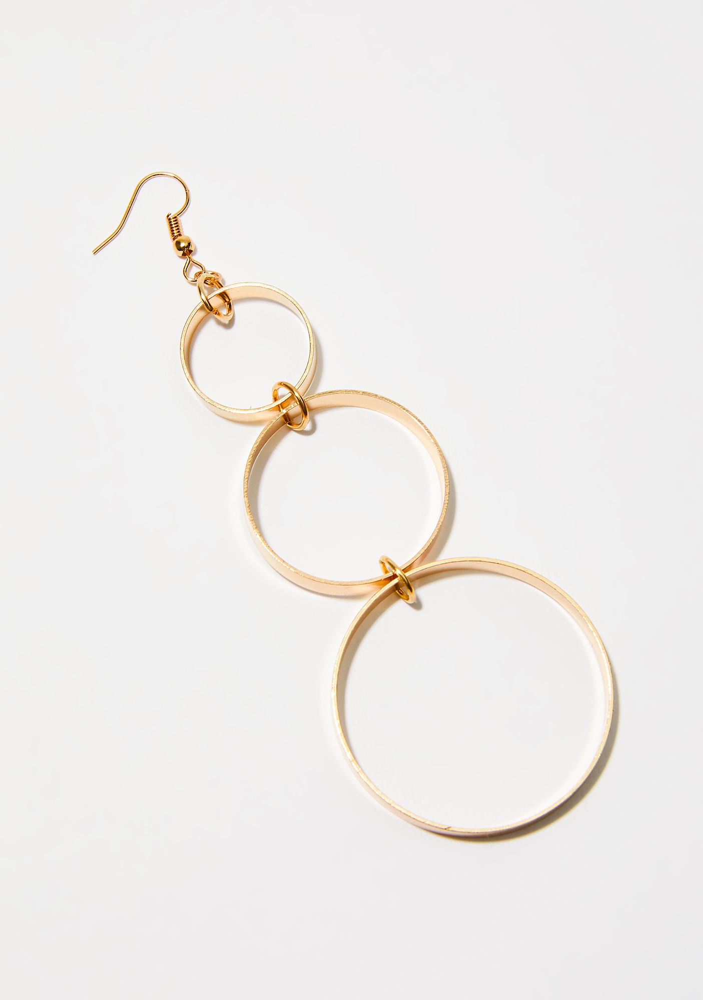 We Linked Up Circle Earrings