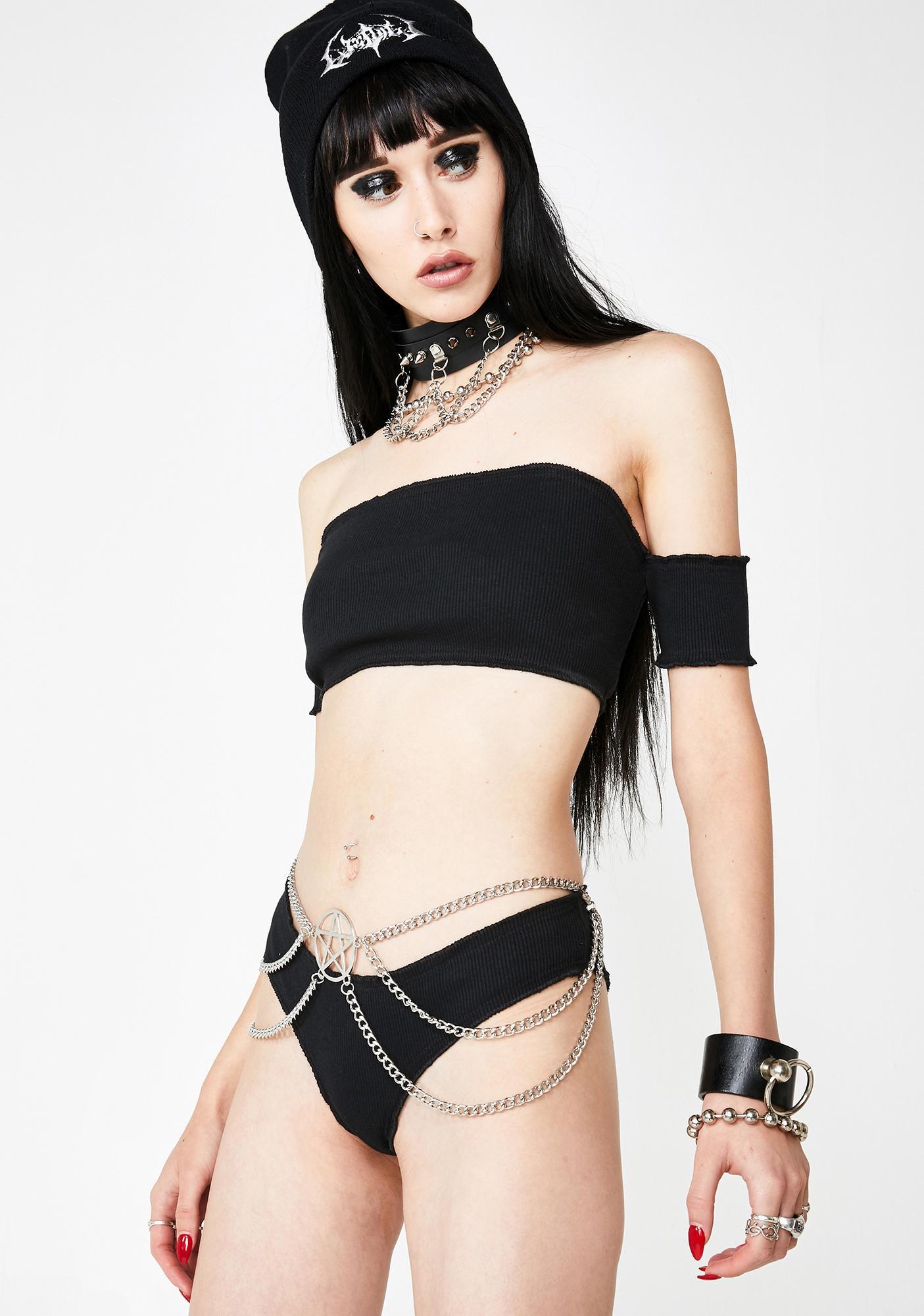 Chained Down Pentagram Belt