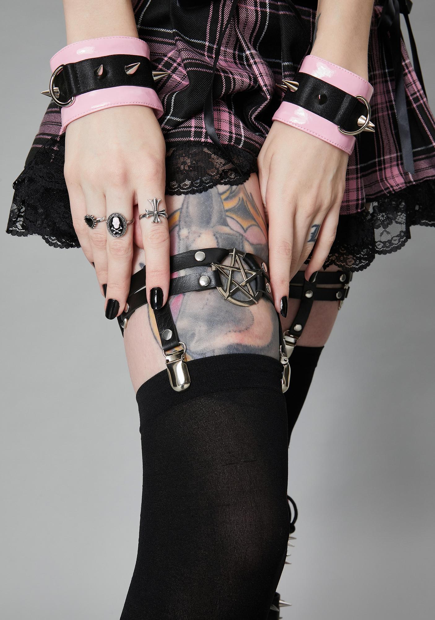 Enchanted Allure Pentagram Garters