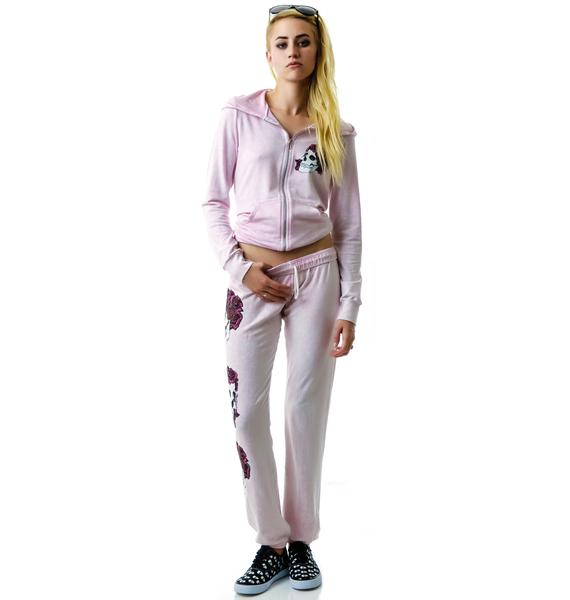 Lauren Moshi Rose Skull Sweat Pants
