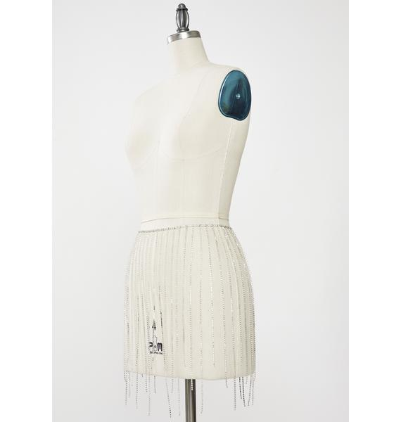 Club Exx Diamond Belle Saloon Rhinestone Skirt