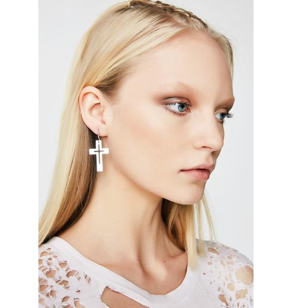 Dangly Cross Earrings
