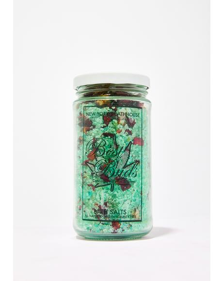 Hemp Flowers And Roses Bath Salts