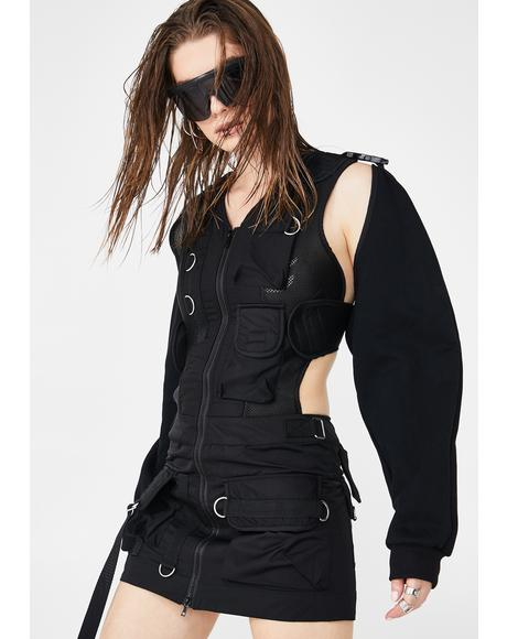 Tactical Dress With Detachable Sleeves