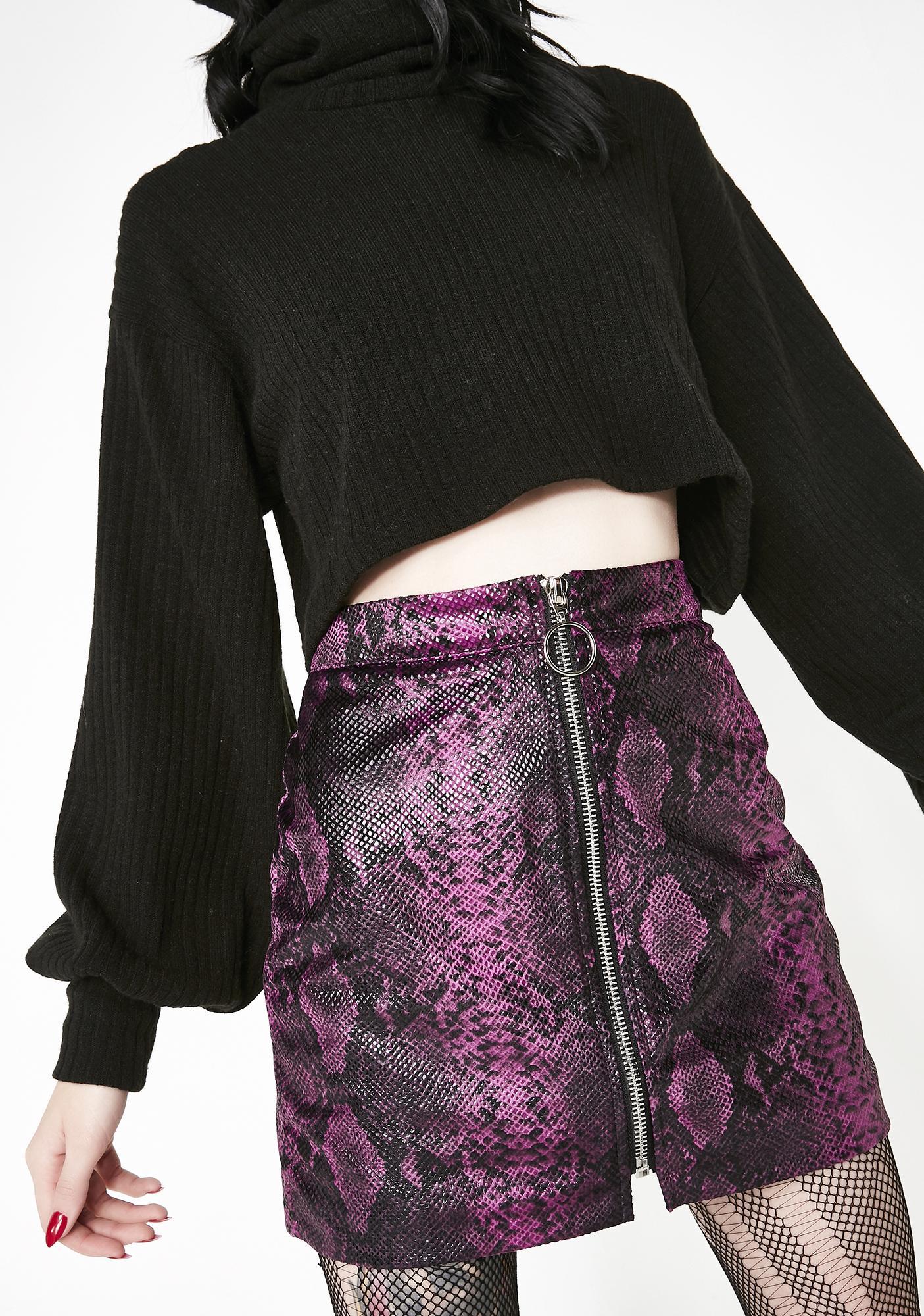 Slitherin' In Ya DMs Mini Skirt