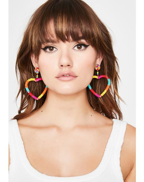 Luv Candy Beaded Earrings